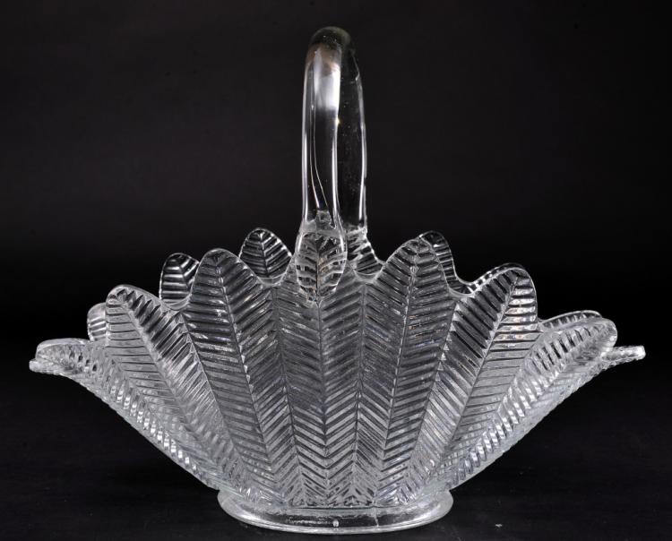 Clear Glass Banana Basket