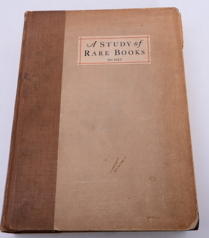 Mollie Mumey's A Study of Rare Books