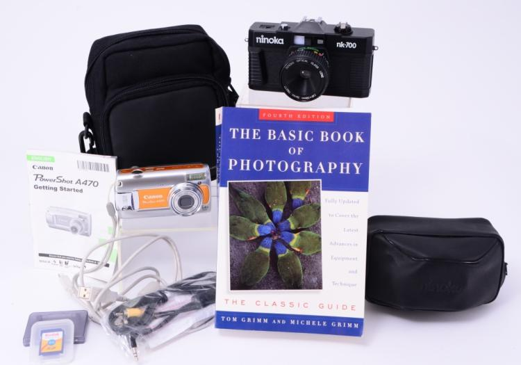 Digital & Film Cameras w/Book
