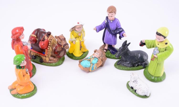 Handpainted Nativity Figures