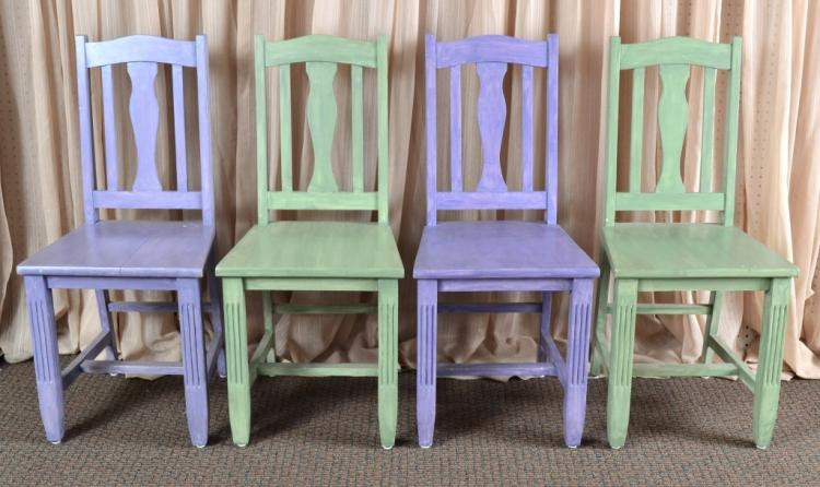 4 Painted Side Chairs