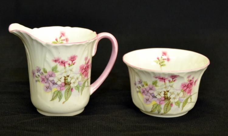 Shelley Fine Bone China Creamer & Sugar