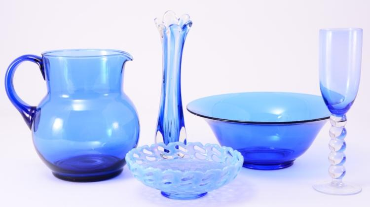 Blue Glass Lot