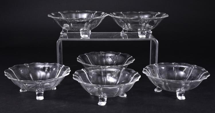 6 Footed Glass Bowls