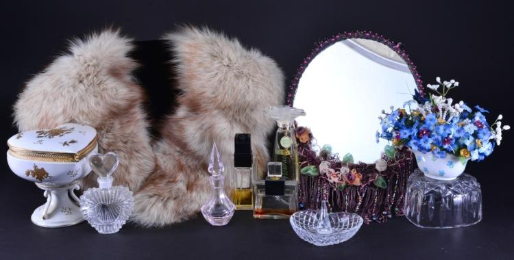 Heart Shape Pedestal, Perfume Bottles, Fur & More