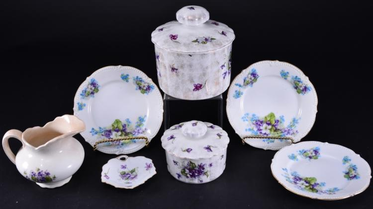 Violet Porcelain Lot
