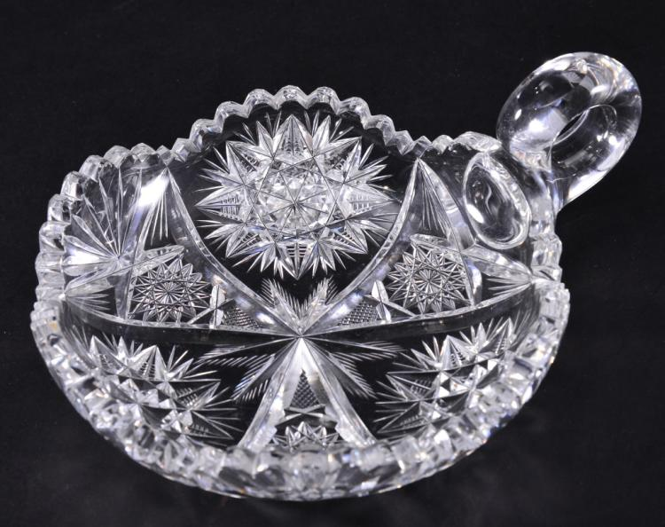 Cut Crystal Single Handled Nappy