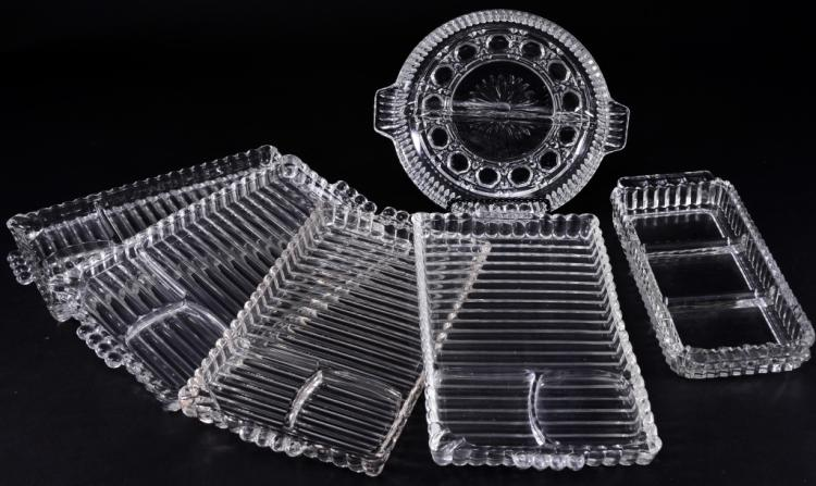 Pressed Glass Divided Dishes