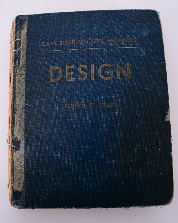 Seelye's Design Data 2n1953 Civil Engineering Book