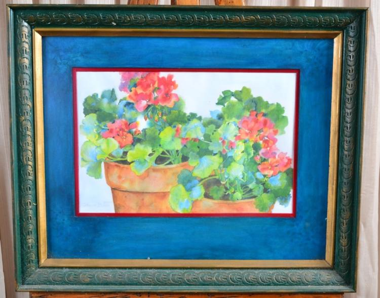 Glenda Bucci Watercolor of Geraniums