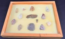 NWFL Scrapers and Arrowheads in Wooden Box