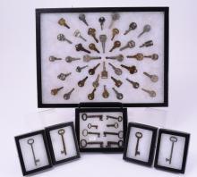 Older British Keys Plus in Riker Boxes w/Pins
