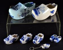 Dutch Ceramic Shoes, Ashtrays and Key Chain