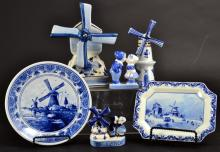 Delft Plates, Windmill Music Box & Figurines