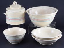 McCoy Banded Mixing Bowls, Tureen & Deep Dishes