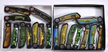20 Pocket Knifes Depicting Tractors & Motorcycles