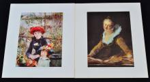 2 Spanish Lithograph Reproductions from Originals