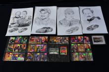 Auto Racing Lot w/Earnhardt and Gordon Prints