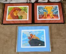 Three Lion King Framed Lithograph Prints