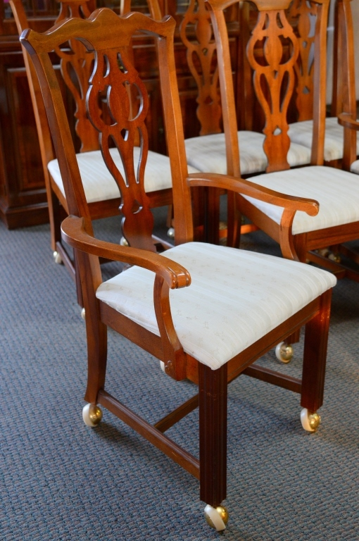 broyhill dining room chairs 2 arm 4 side