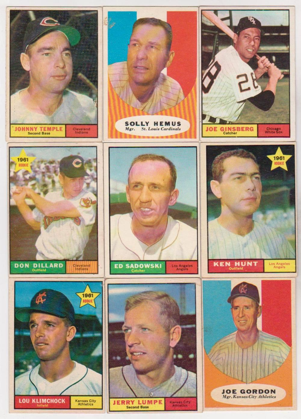 Nine Different Ways You Can Put Your Goals In Writing: 9 Different 1961 Topps Baseball Cards