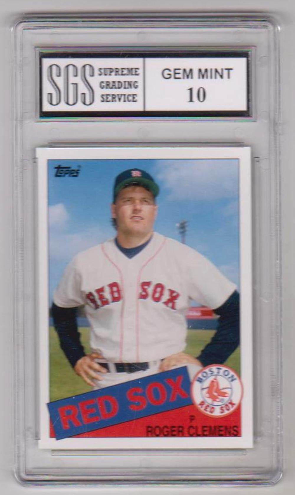 Graded Gem Mint 10 Roger Clemens 2006 Topps Rookie Of The We