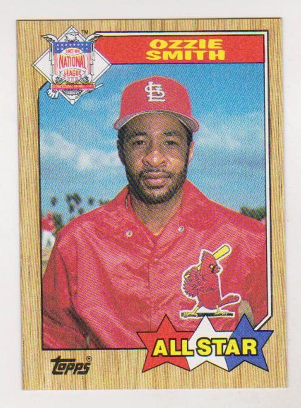 Error 1987 Topps Ozzie Smith Wrong Back Error Card