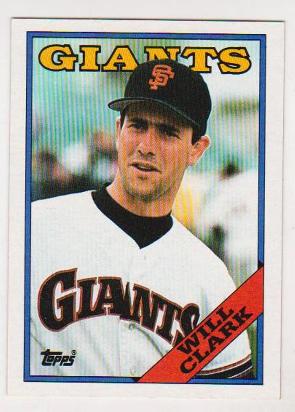 Error Will Clark 1988 Topps Wrong Back Error Card