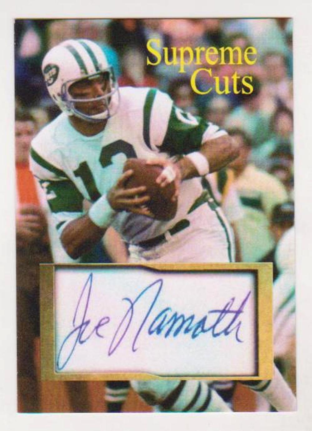 6624358ef7f #34/50 Produced - Joe Namath Facsimile Autograph Supreme Cuts Card - Scarce!