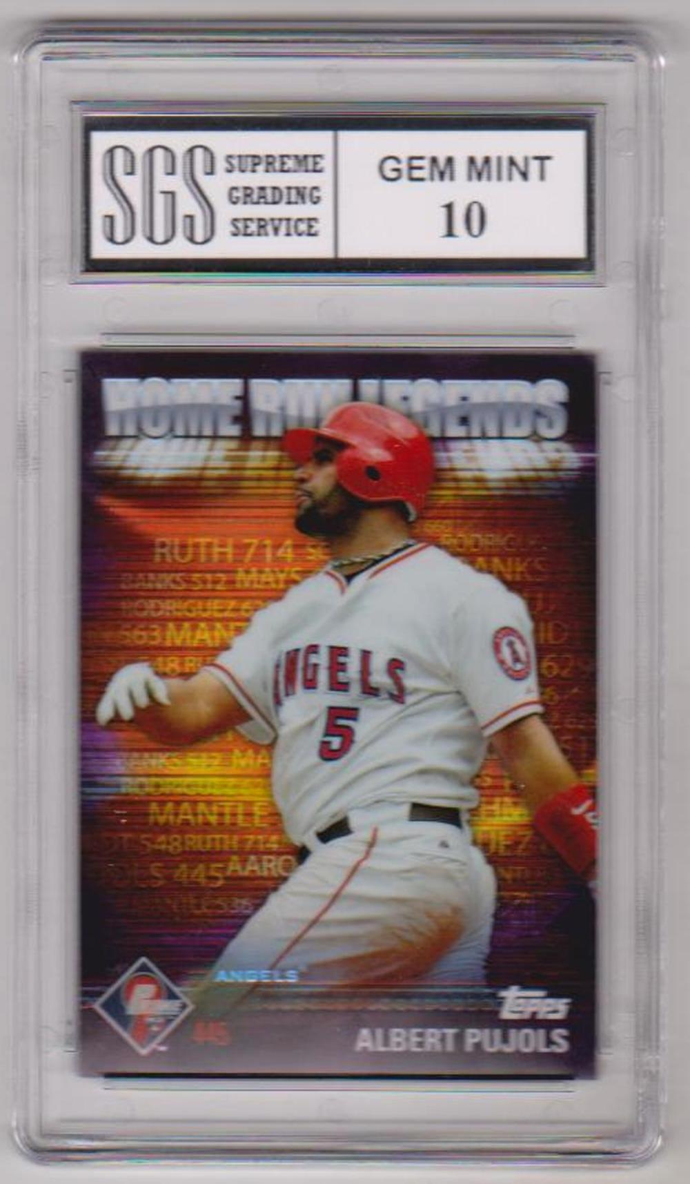 Graded Gem Mint 10 Albert Pujols 2012 Topps Prime 9 Home Run