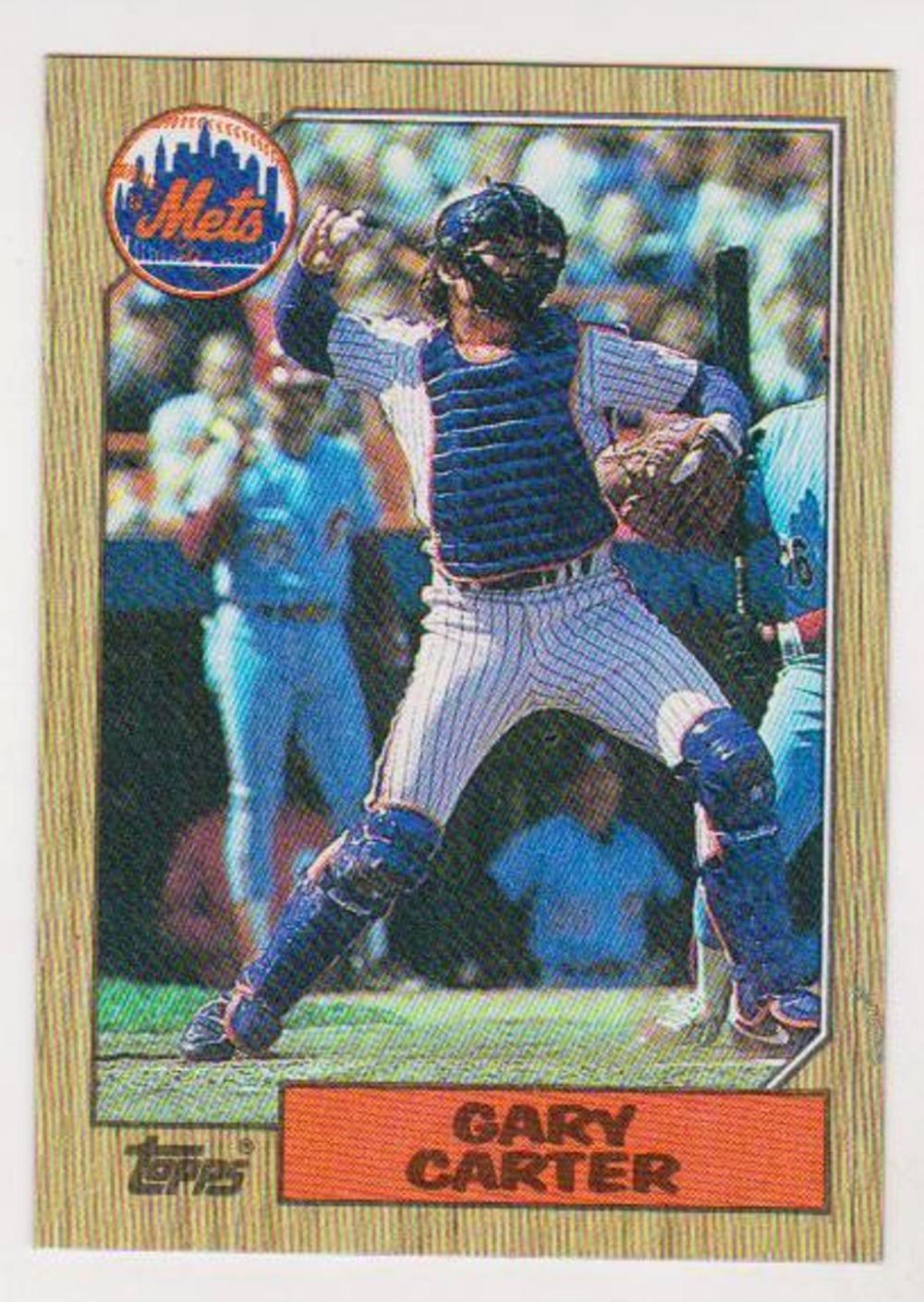 Error 1987 Topps Gary Carter Wrong Back Error Card