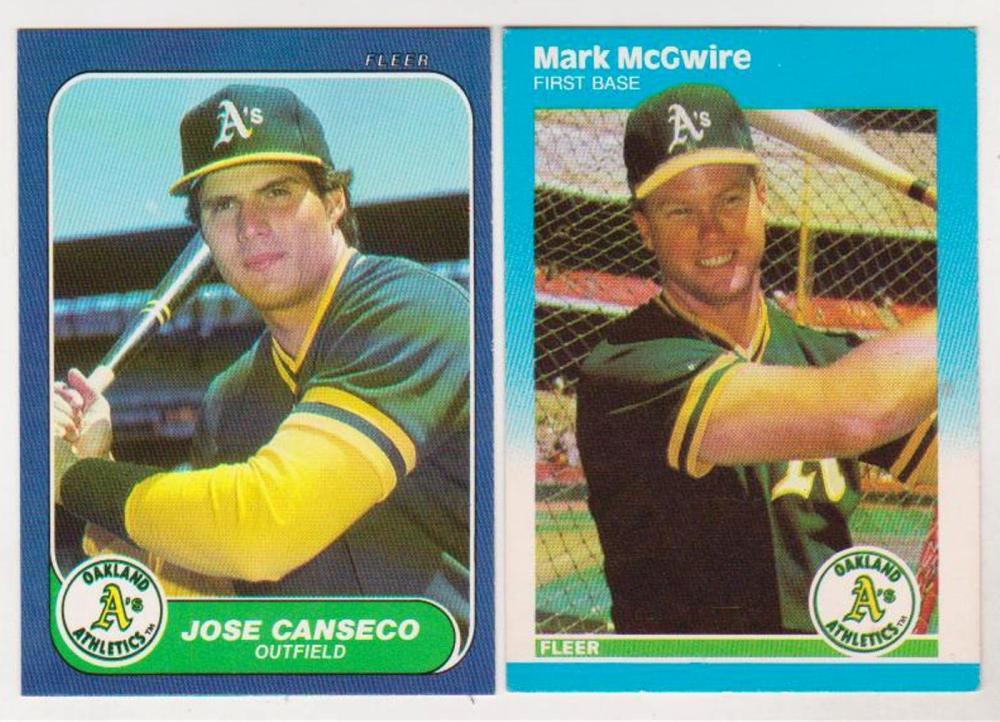 Rookies 1987 Fleer Update Mark Mcgwire 1986 Fleer Update