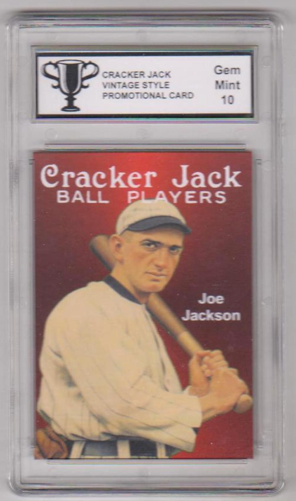 Graded Gem Mint 10 Shoeless Joe Jackson Cracker Jack Vinta