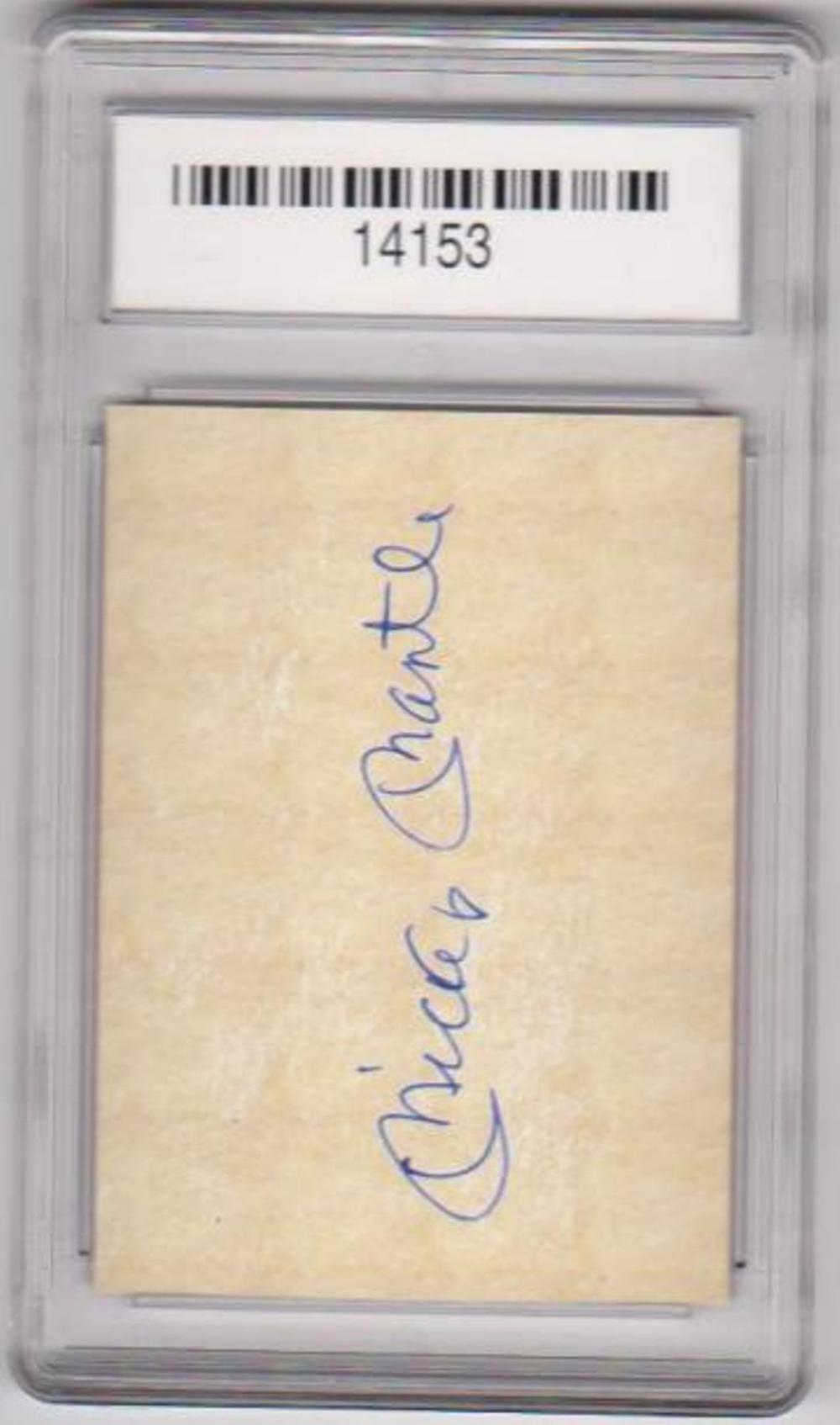 Lot 1: Graded Gem Mint 10 Mickey Mantle Coca-Cola Advertising Promo Card