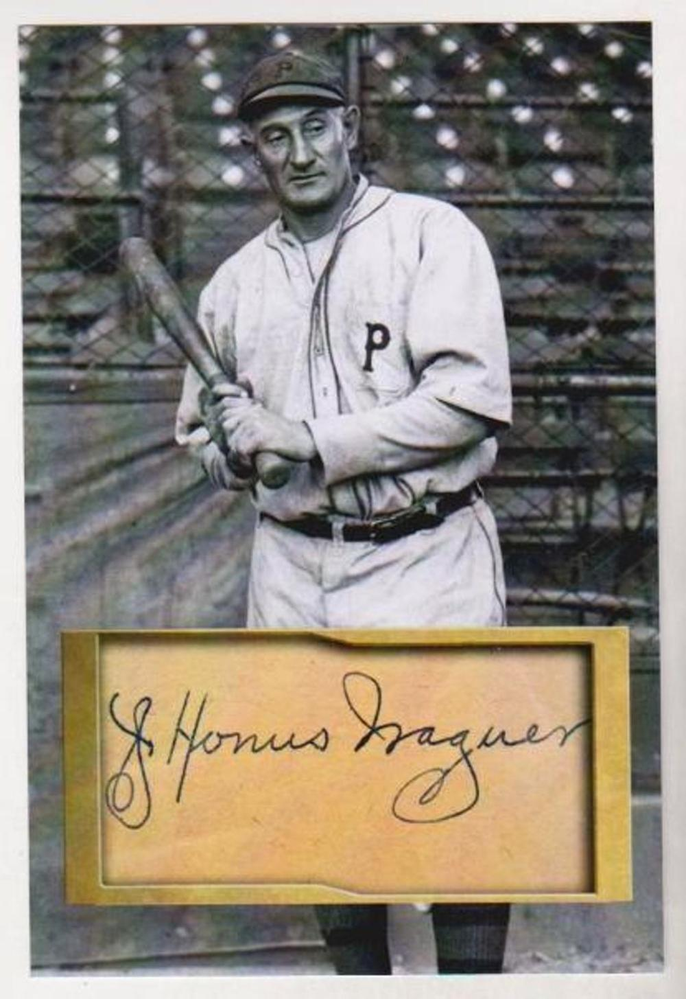 Honus Wagner 4x6 Photo w/ Facsimile Signature - Nice For Framing!