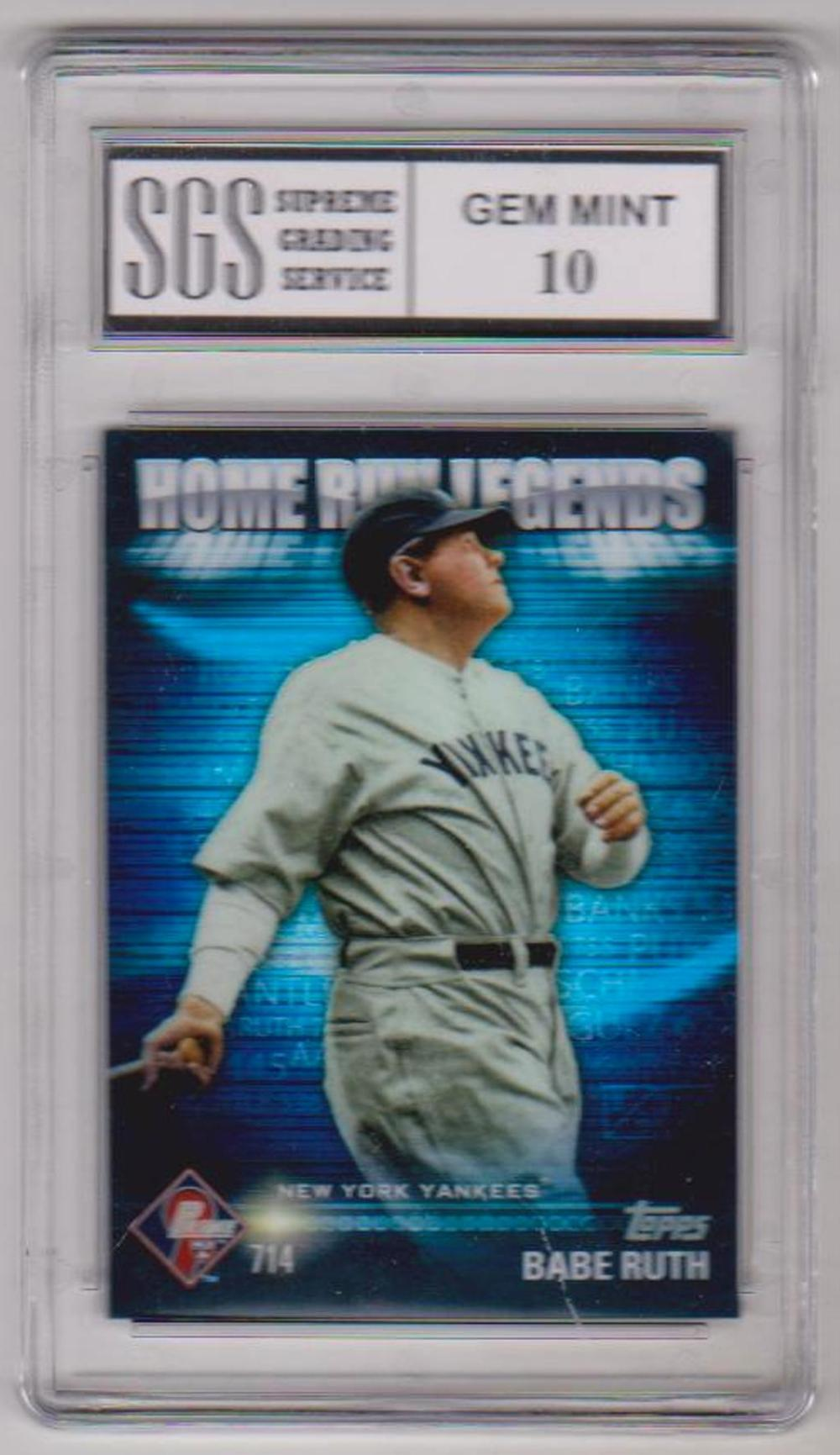 Graded Gem Mint 10 Babe Ruth 2012 Topps Prime 9 Home Run Legends #HRL-2 Card