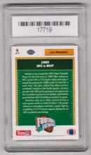 Lot 25: Graded Gem Mint 10 Joe Montana 1991 Upper Deck Heroes #6 of 9 Insert Card
