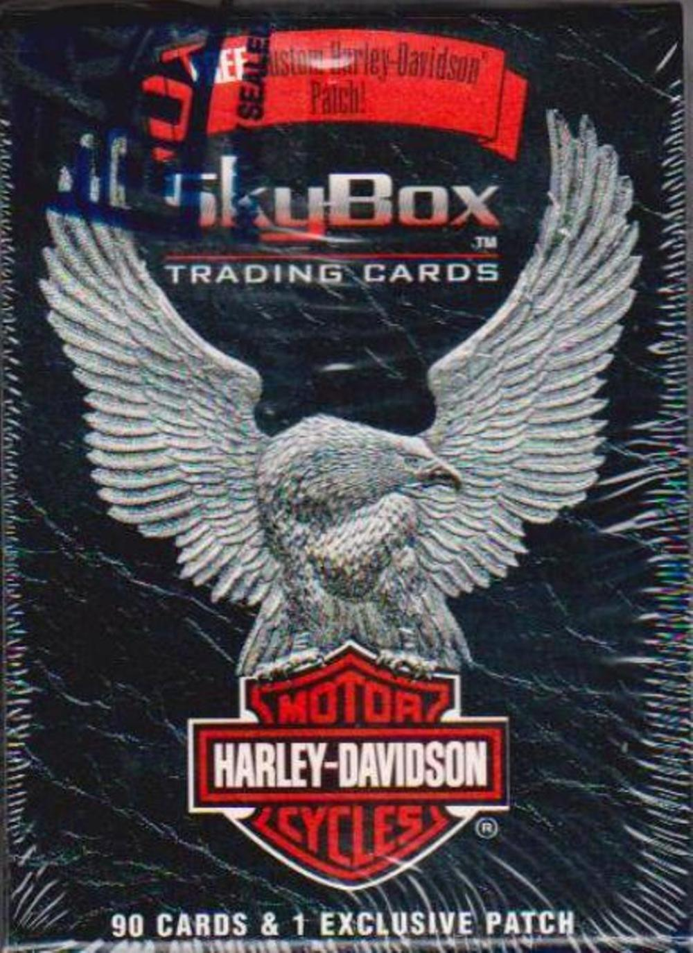 Sealed - 1994 Skybox HARLEY-DAVIDSON MOTORCYCLES 90 Card Set + 1 Exclusive Patch