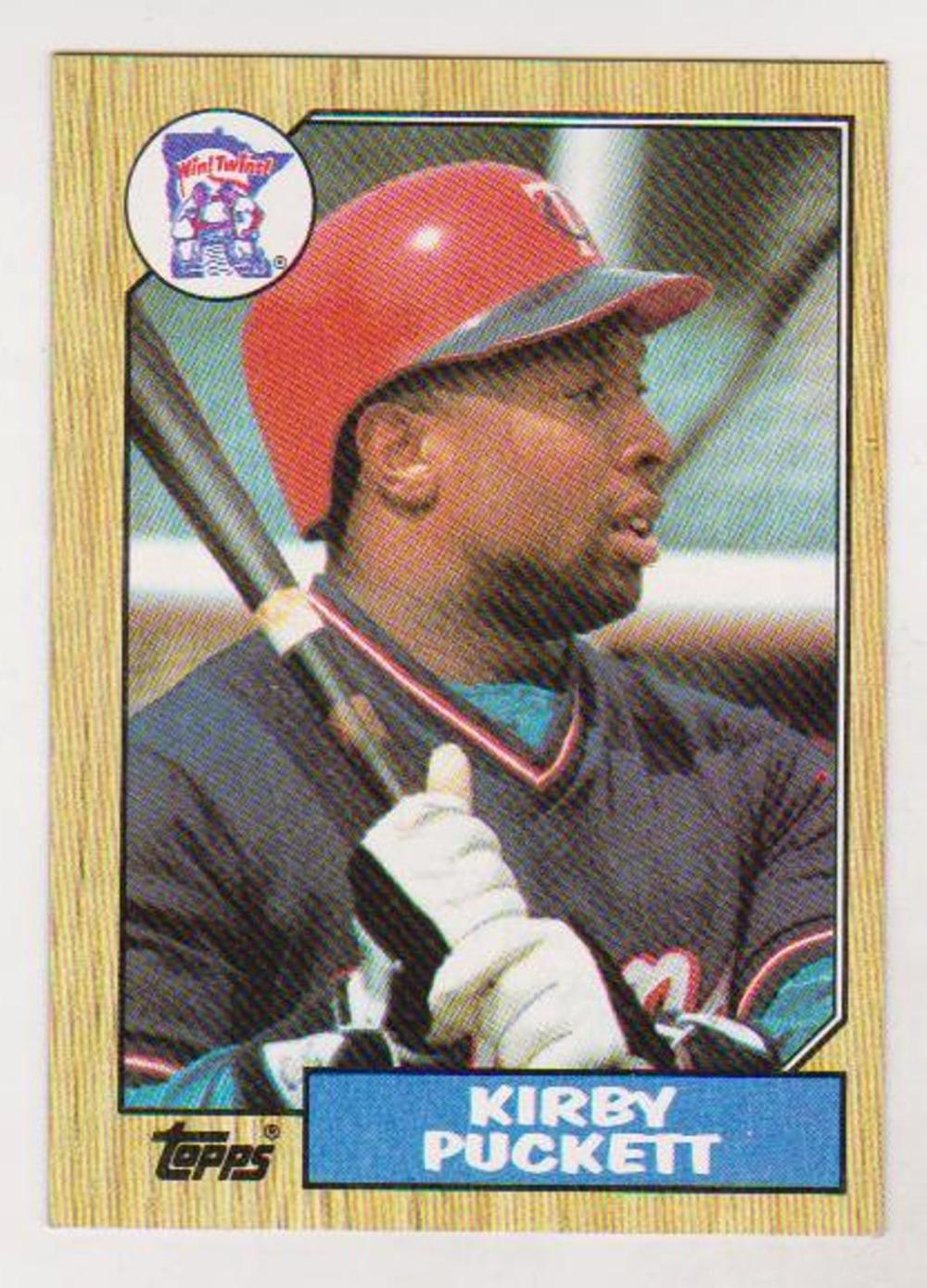 Error - Kirby Puckett 1987 Topps Wrong Back Error Card