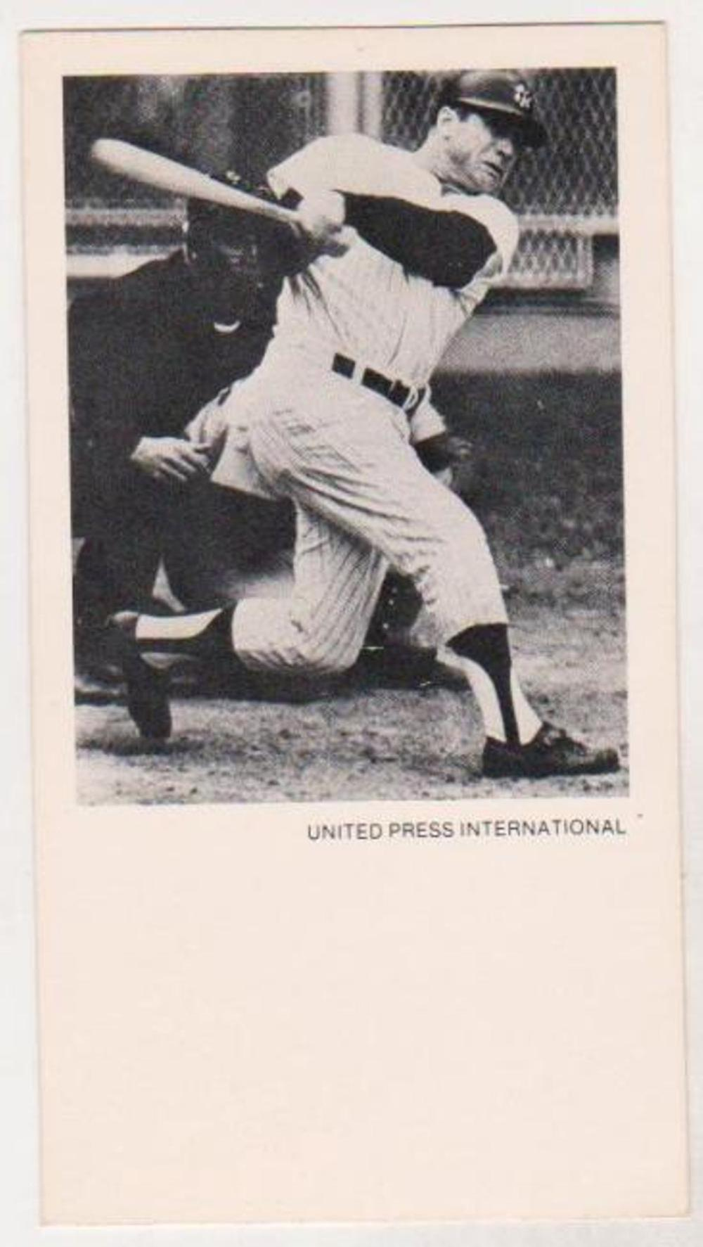 1979 UPI Mickey Mantle Greatest Moments in Sports History Card With Record