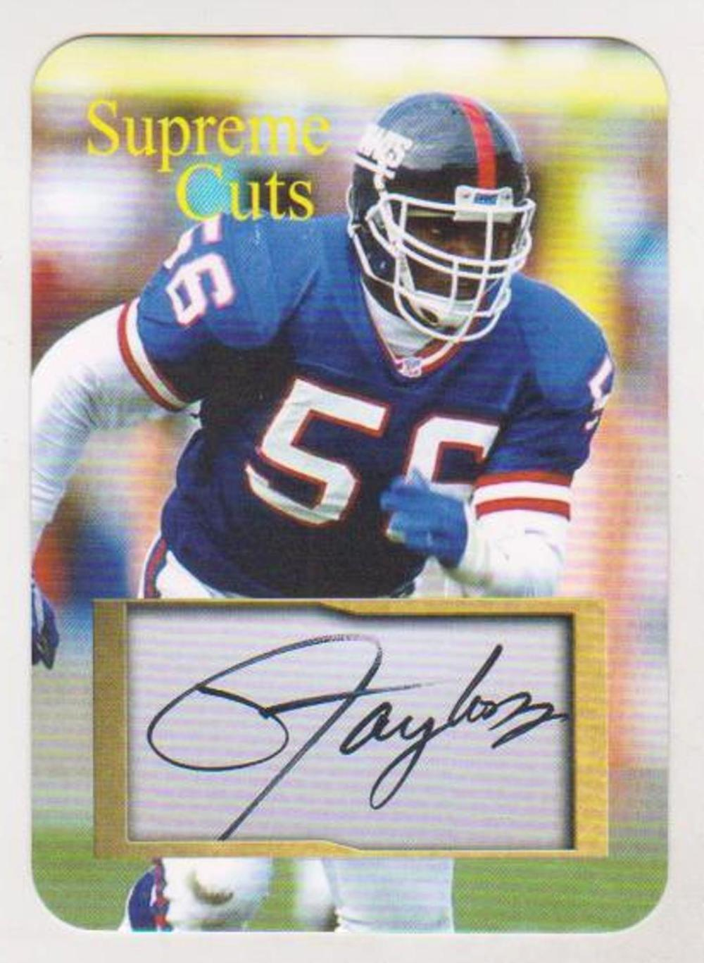 #13/50 Produced - Lawrence Taylor Supreme Cuts Facsimile Autograph Die Cut Limited Edition Card