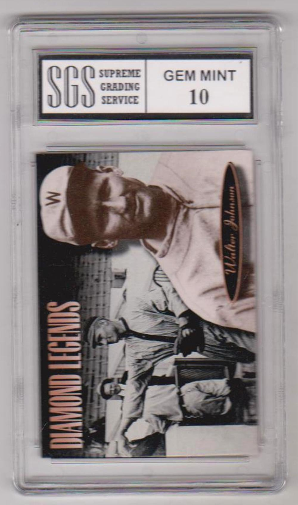 Graded Gem Mint 10 Walter Johnson 1994 Upper Deck All-Time Heroes #152 Card