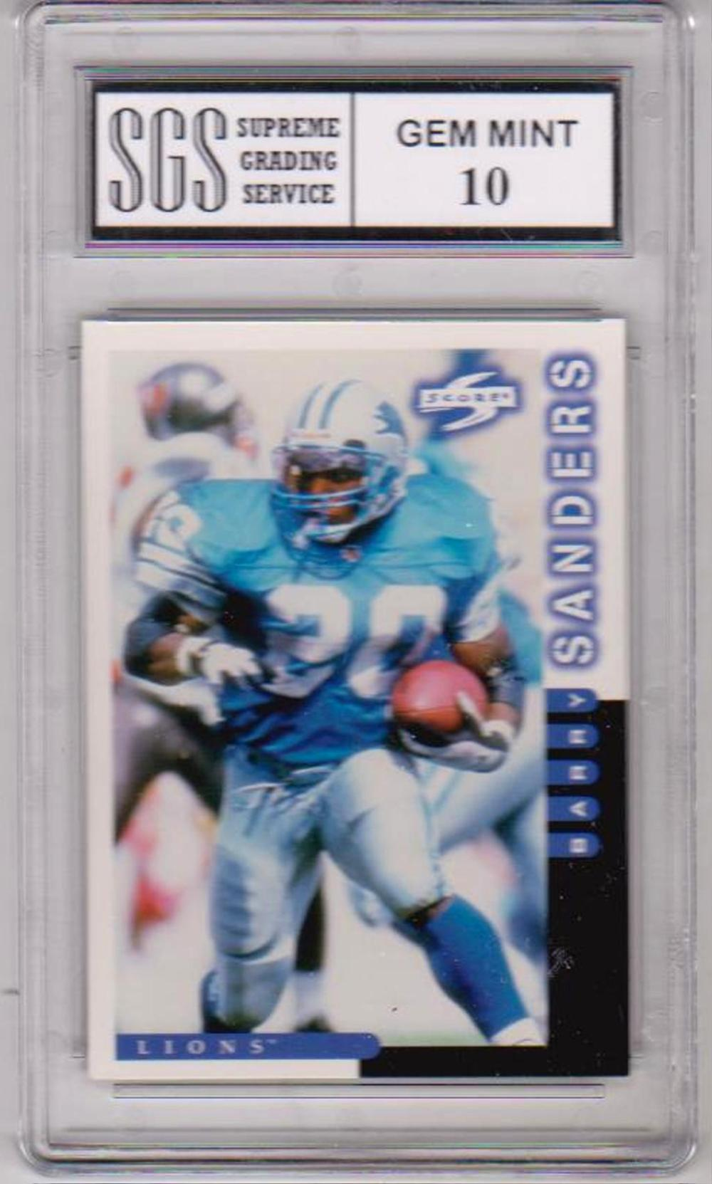 Graded Gem Mint 10 Barry Sanders 1998 Score #57 Card