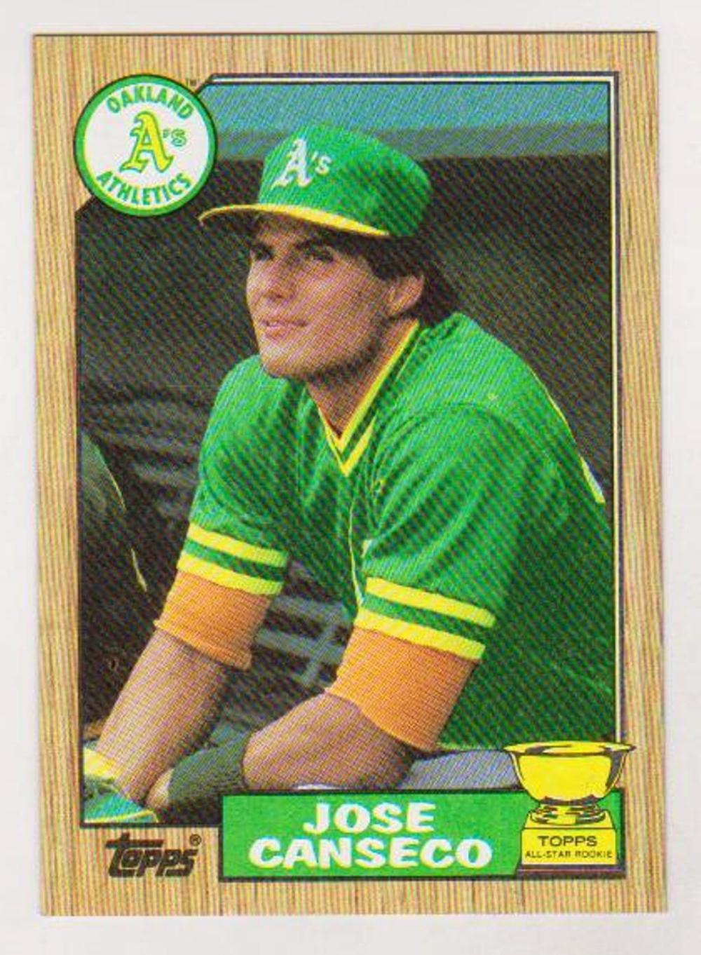 Wrong Back Error - 1987 Topps Jose Canseco w/ Barry Larkin Rookie Back
