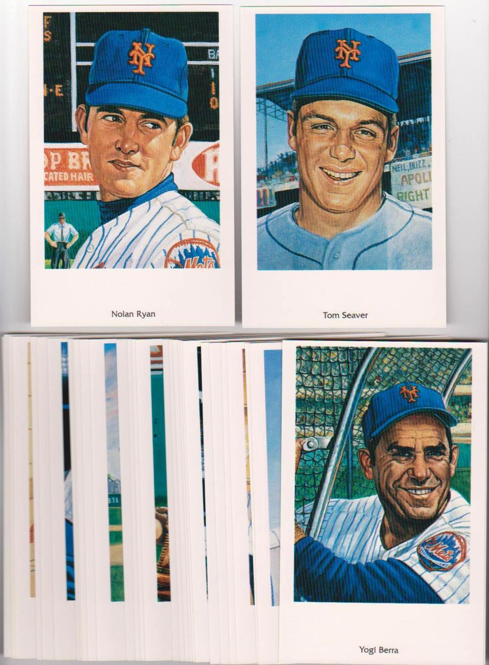 1994 25th Anniversary 1969 Miracle Mets 32 Card Postcard Set - Nolan Ryan + More