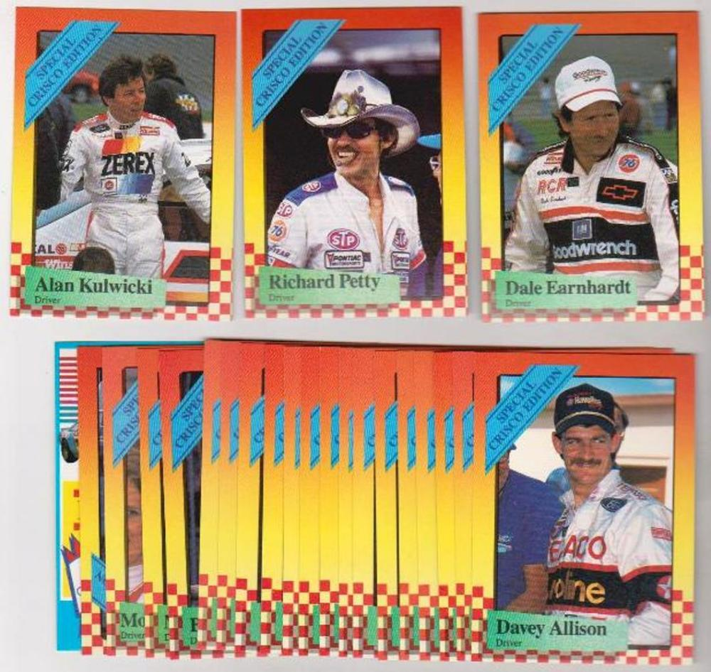 1989 Maxx Crisco Racing Set - Dale Earnhardt + More
