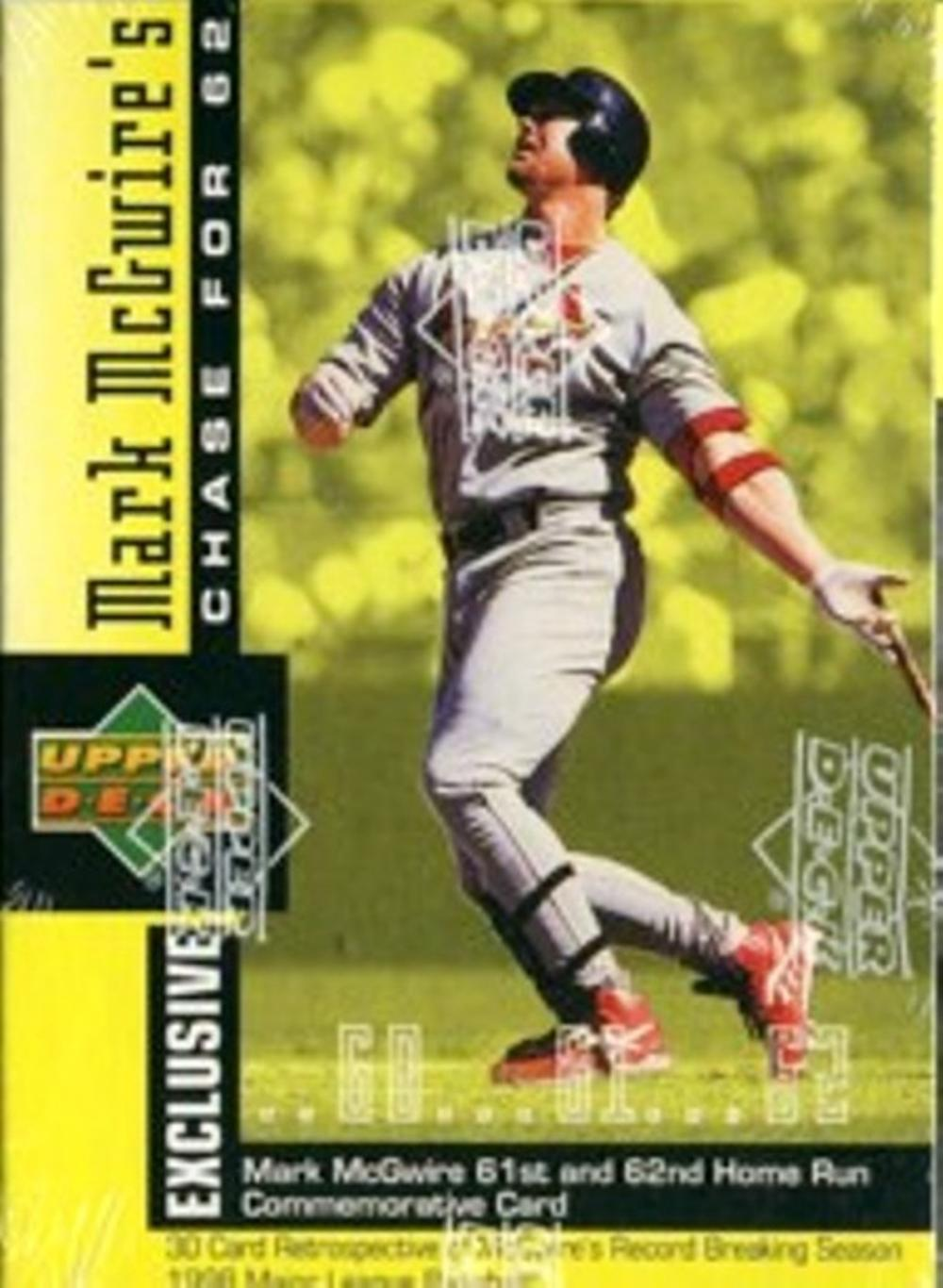 1998 Upper Deck MARK MCGWIRE Chase for 62 Factory Sealed Set