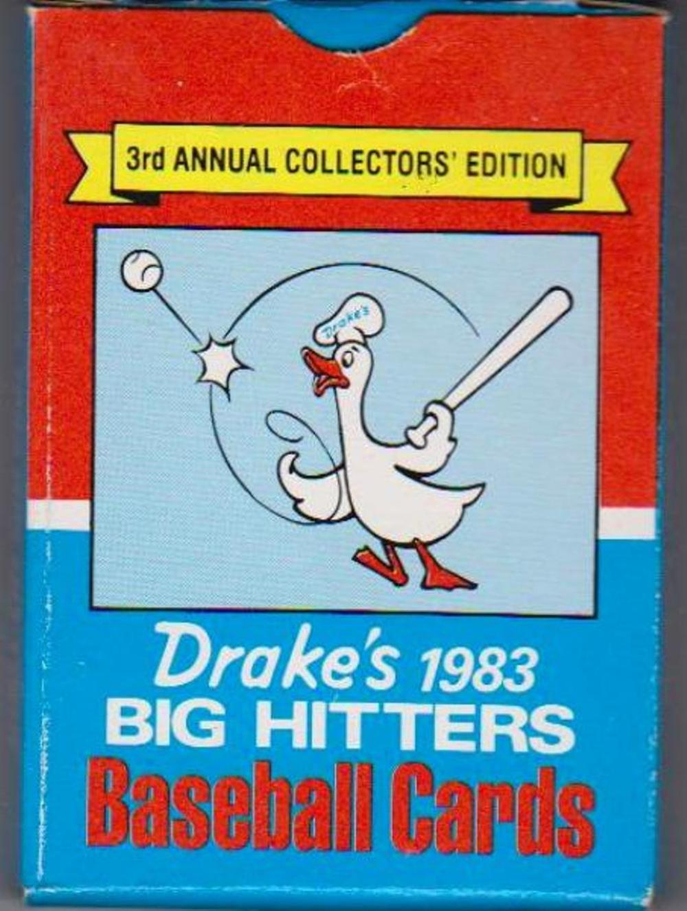 1983 Topps Drake's Big Hitters Set In Factory Box w/ Pete Rose + More
