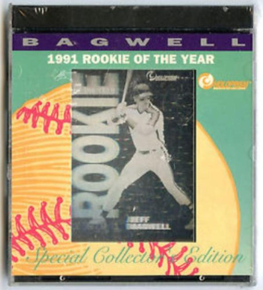 Lot of 10 Jeff Bagwell 1992 Holoprism Rookie Of The Year Holograms Factory Sets