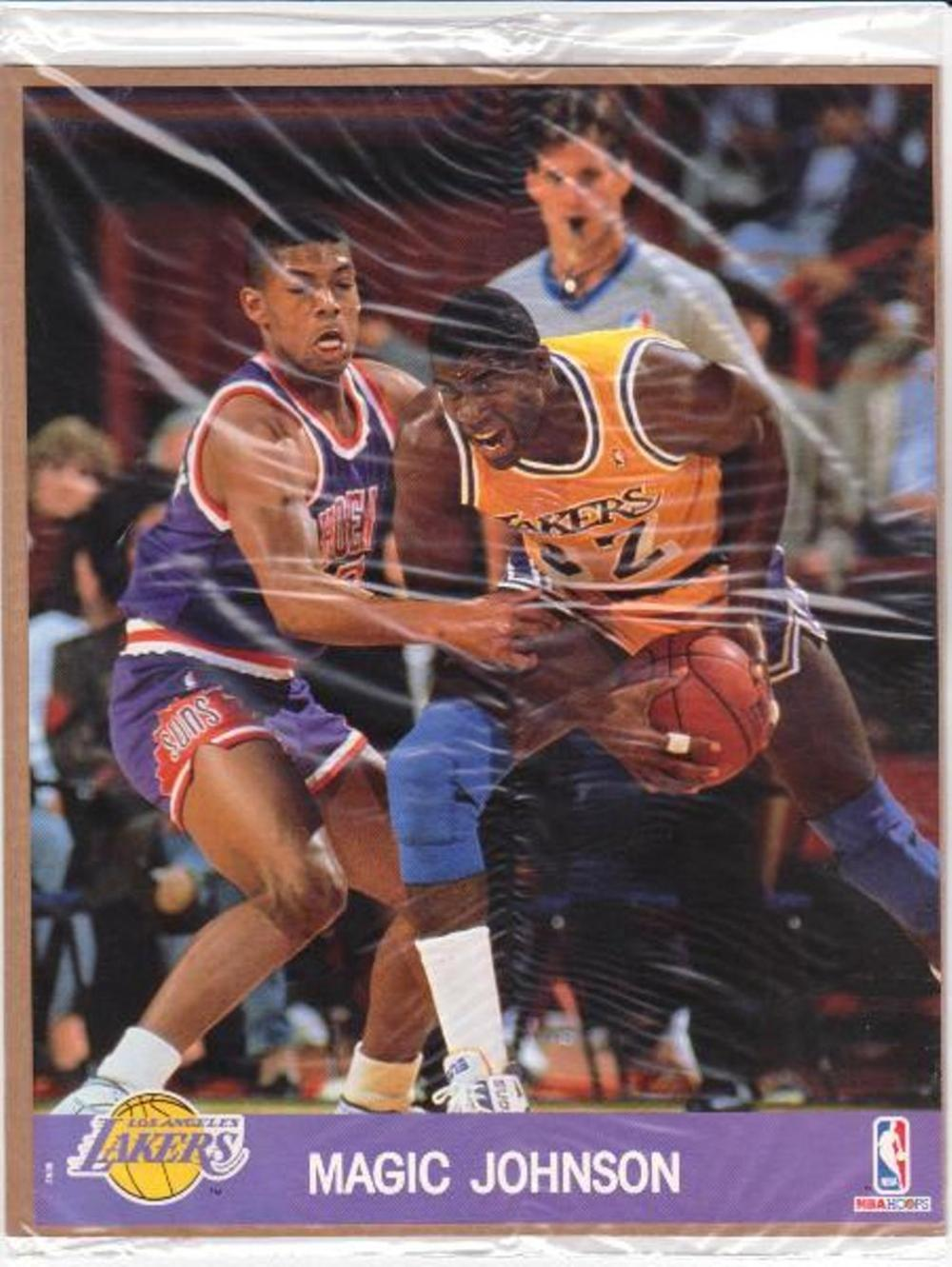 Lot of 20 1990 Hoops Photos MAGIC JOHNSON 8x10 Photo/Cards - Sealed